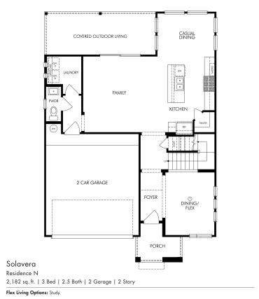 Solavera Downstairs Plan