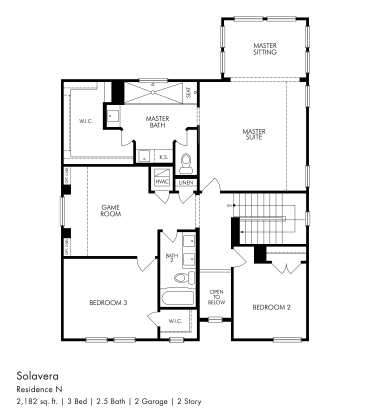 Solavera Upstairs Plan